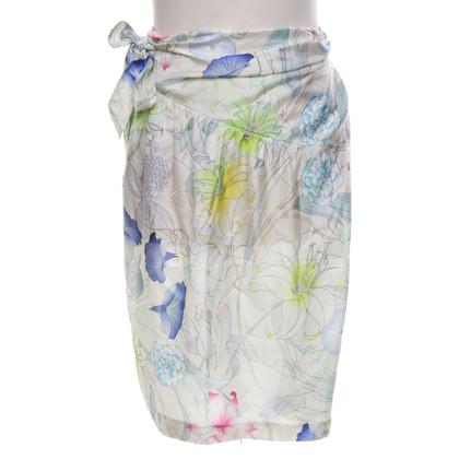 Dries van Noten Jupe avec un motif floral