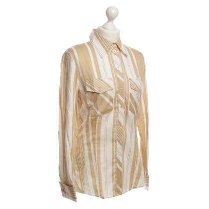 Strenesse Blue Camicia a righe bianco/beige