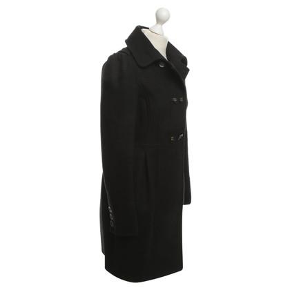 Ferre Wool coat in black