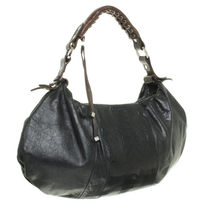 Pauric Sweeney Tote with reptile leather