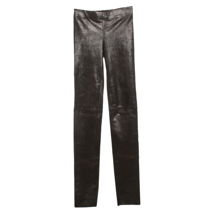 Joseph Leather leggings with gloss effect