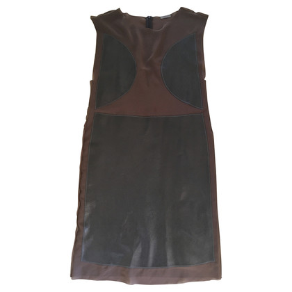 Bottega Veneta Silk-leather mix dress