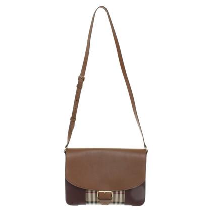 Burberry Handtasche mit Lederbesatz