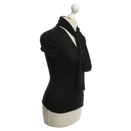 Chanel guscio di cashmere in nero