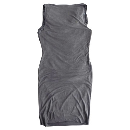 Helmut Lang Ruched jurk in antraciet