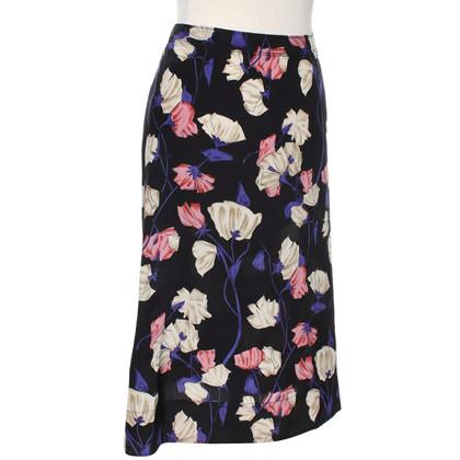 Prada Silk skirt with floral pattern