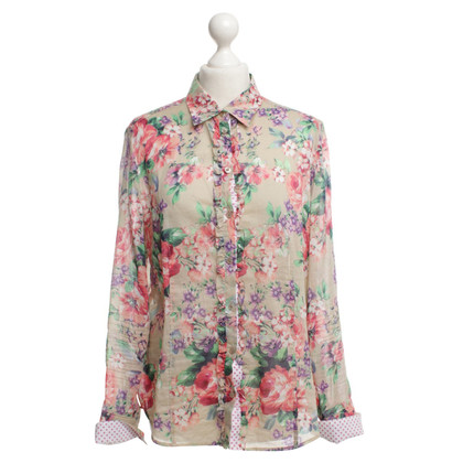 Basler Cotton blouse with floral pattern