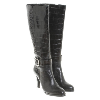 Aigner Black leather boot