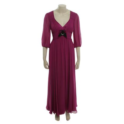Laurèl Maxi-Kleid in Fuchsia
