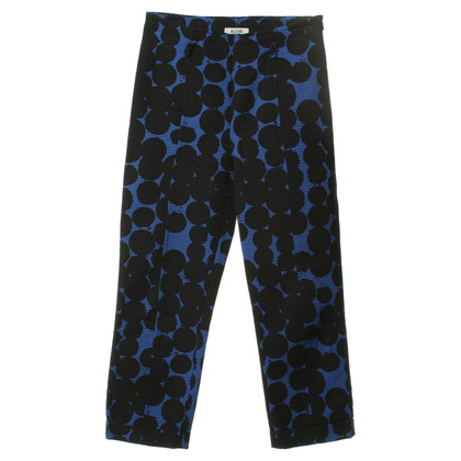 Moschino Cheap and Chic Patterned trousers in black