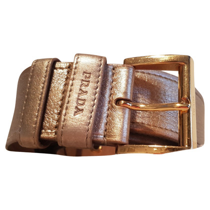 Prada Prada belt in golden leather