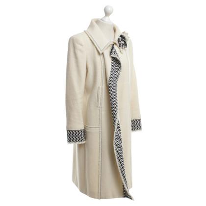 Chanel Cappotto in crema bianca