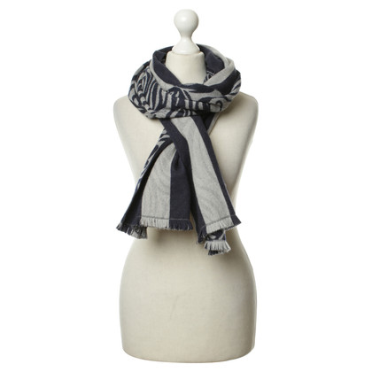 René Lezard Scarf in grey and blue