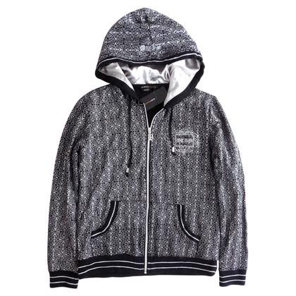 BCBG Max Azria Bedrucktes Sweatshirt mit Kapuze
