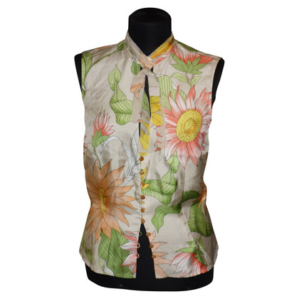 Escada Silk blouse with floral pattern