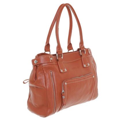Longchamp Handtasche in Orange/Braun