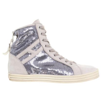 Hogan Sneakers con paillettes trim