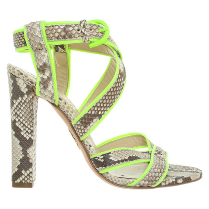 Roberto Cavalli Sandals with snakeskin look