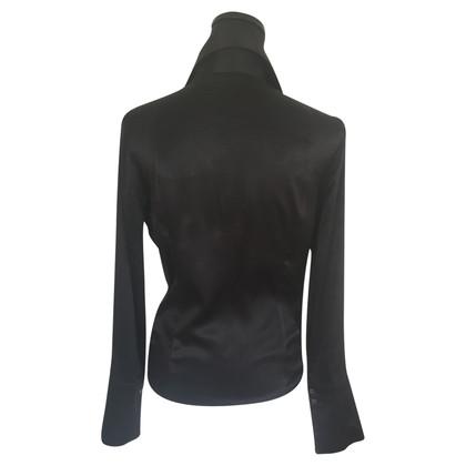 Patrizia Pepe Black silk blouse