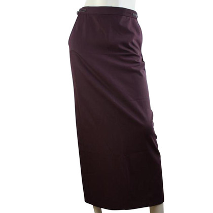 Armani Aubergine red tube skirt