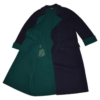 Akris Dark Blue Wool Coat