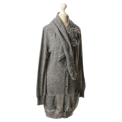 Ermanno Scervino Knitted coat in grey