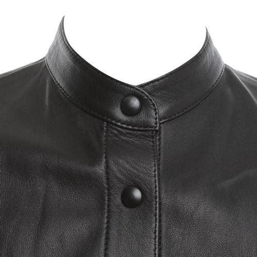 exquisites Design jetzt kaufen am besten bewertet neuesten Closed Lederbluse in Schwarz - Second Hand Closed Lederbluse ...