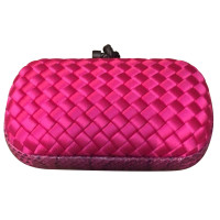 Bottega Veneta Bubblegum Pink Knot Clutch Bag