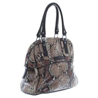 Longchamp Handtasche mit Python-Muster