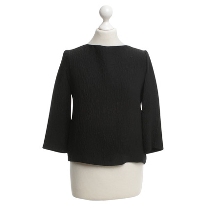 Balenciaga Silk Top in zwart