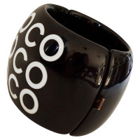 "Chanel Bracelet black & white with ""Coco"" print"