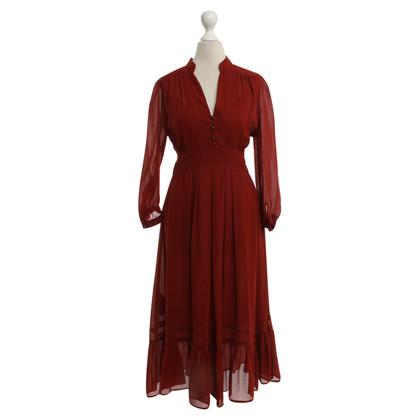 Comptoir des Cotonniers zijden jurk in het rood