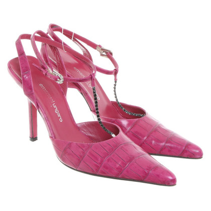 Emanuel Ungaro pumps in rettile finitura