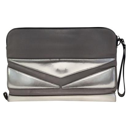 Karl Lagerfeld clutch zilver/grijs