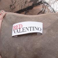 Red Valentino Kanten jurk in zwart / Rosé