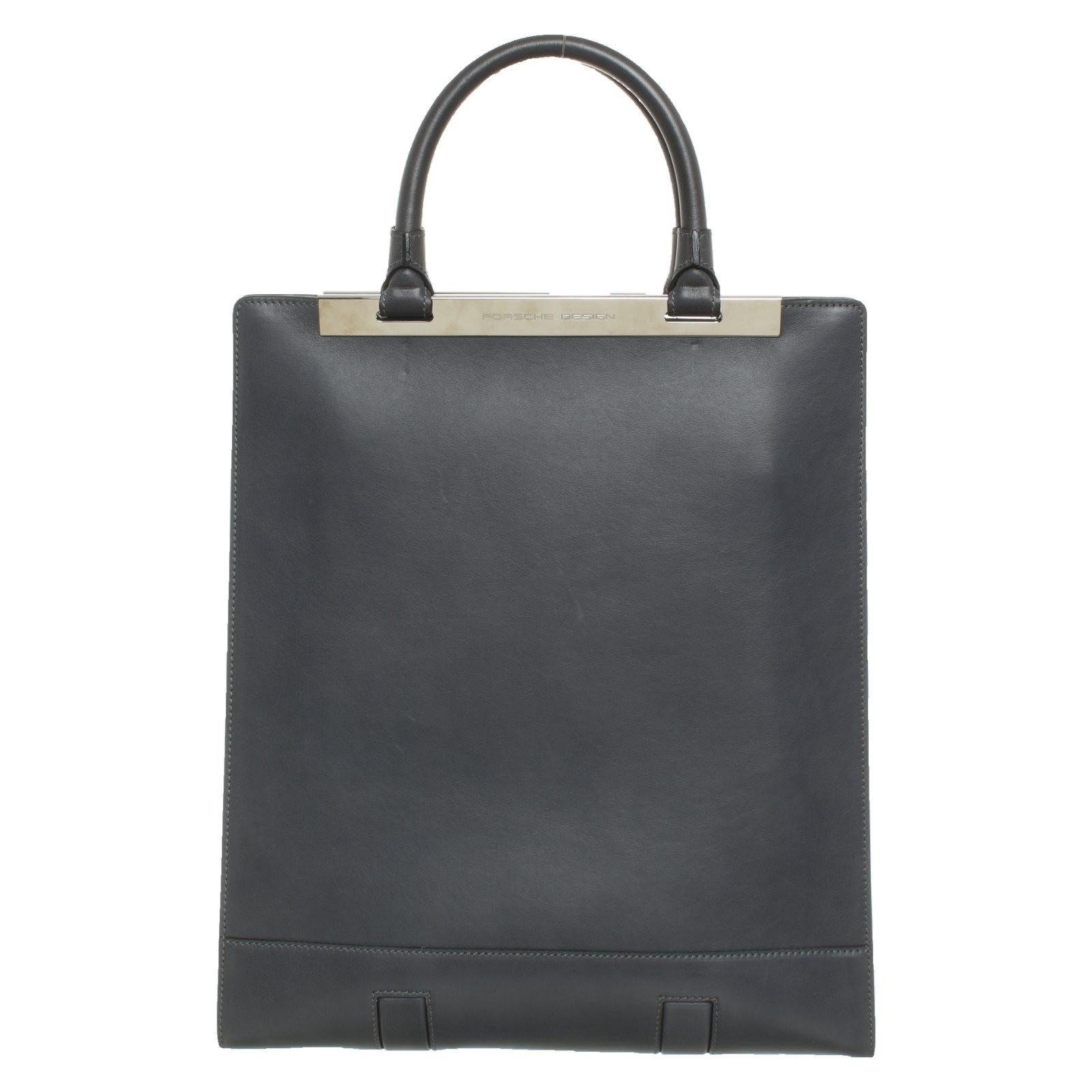Porsche Design Handbag Leather In Blue