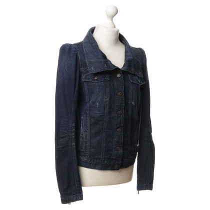 7 For All Mankind Denim vest in donkerblauw