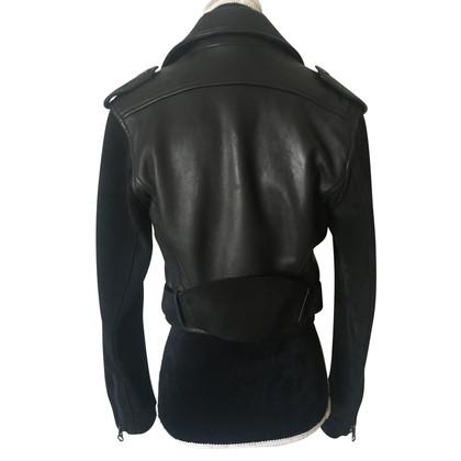 Acne Veste en cuir style motard