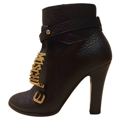 Moschino Black leather ankle boots