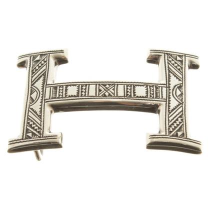 Hermès Zilveren riem gesp