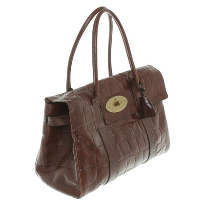 "Mulberry ""Bayswater Bag"" pelle goffrata"
