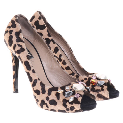 Other Designer Le Silla - Peep-toes in animal look