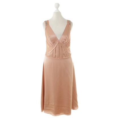 Chloé zijden jurk in nude
