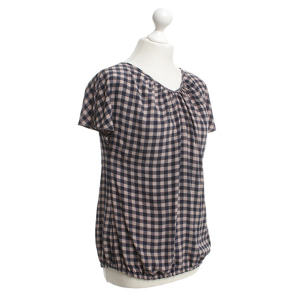 Hemisphere Flowing blouse with check pattern