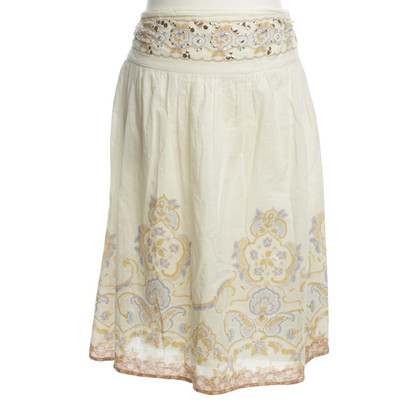 Schumacher skirt with Oriental print
