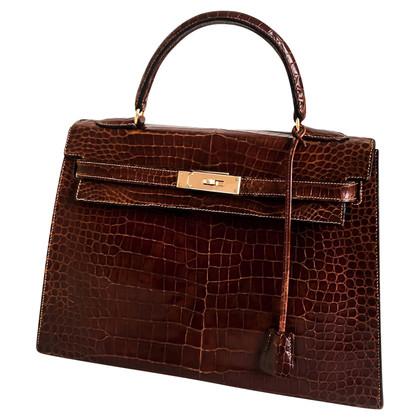 "Hermès ""Kelly Bag 32"" in pelle di coccodrillo"