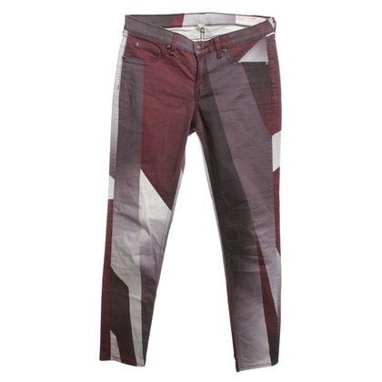 Rag & Bone Gemusterte Hose in Multicolor