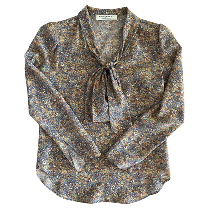 Philosophy di Lorenzo Serafini Silk blouse with a floral pattern