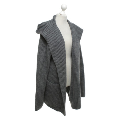 Camouflage Couture Knitted coat in grey