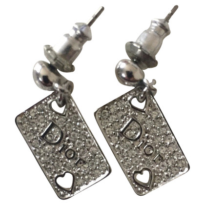 "Christian Dior Earrings playing card ""heart"""
